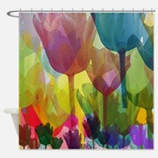 Field Of Tulips Shower Curtain