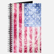 4th of July - American Firework Flag Journal