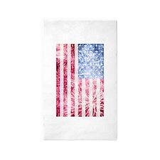4th of July - American Firework Flag 3'x5' Area Ru