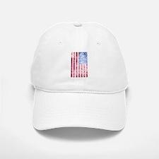 4th of July - American Firework Flag Baseball Baseball Baseball Cap