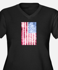 4th of July - American Firework Flag Plus Size T-S