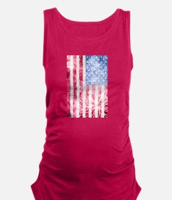 4th of July - American Firework Flag Maternity Tan
