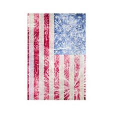 4th of July - American Firework F Rectangle Magnet