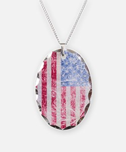 4th of July - American Firewor Necklace