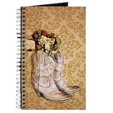 damask vintage cowboy boots floral Journal