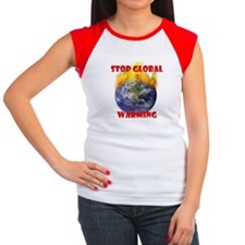 Anti-Global Warming Women's Cap Sleeve T-Shirt