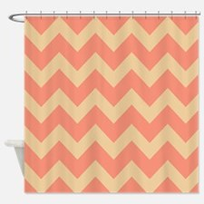 Tan And Peach Shower Curtains