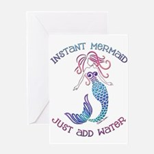 Instant Mermaid Greeting Cards