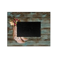 modern cowboy boots barn wood Picture Frame