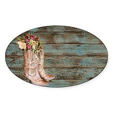 modern cowboy boots barn wood Decal