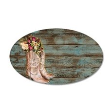 modern cowboy boots barn wood Decal Wall Sticker