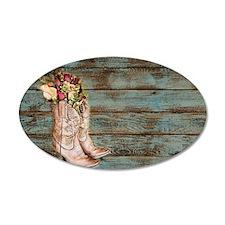 modern cowboy boots barn wood Decal Wall Sticker