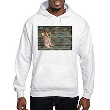 modern cowboy boots barn wood Hoodie Sweatshirt