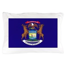 Flag of Michigan Pillow Case