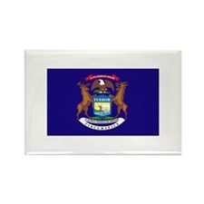 Flag of Michigan Rectangle Magnet (10 pack)