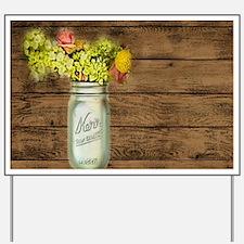 mason jar floral barn wood western country Yard Si