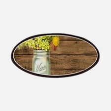 mason jar floral barn wood western country Patches