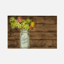mason jar floral barn wood western country Magnets