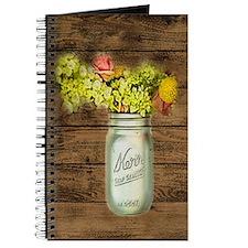 mason jar floral barn wood western country Journal