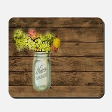 mason jar floral barn wood western country Mousepa