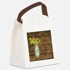 mason jar floral barn wood western country Canvas