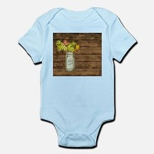 mason jar floral barn wood western country Body Su