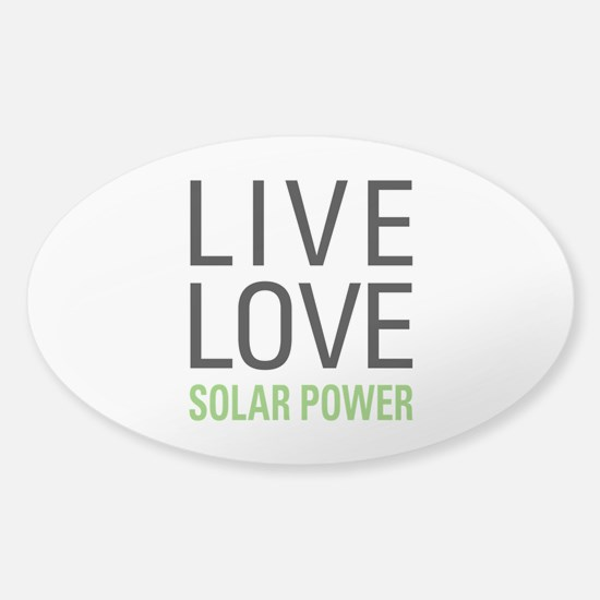 Solar Power Sticker (Oval)