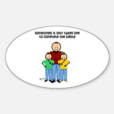 Single Dad Oval Decal