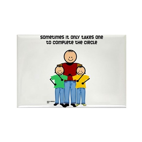 Single Dad Rectangle Magnet (100 pack)