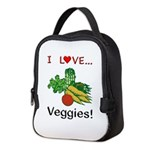 I Love Veggies Neoprene Lunch Bag