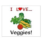 I Love Veggies Small Poster