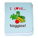 I Love Veggies baby blanket