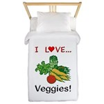 I Love Veggies Twin Duvet