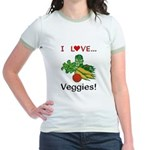 I Love Veggies Jr. Ringer T-Shirt