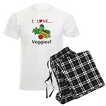 I Love Veggies Men's Light Pajamas