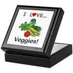 I Love Veggies Keepsake Box