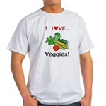 I Love Veggies Light T-Shirt