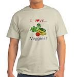 I Love Veggies Light T-Shirt
