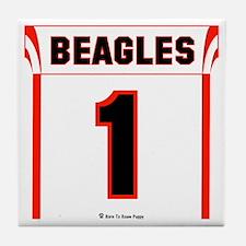 Beagle Jersey Tile Coaster