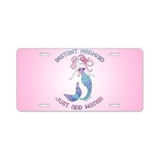 Instant Mermaid Just Add Wa Aluminum License Plate