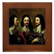 Charles I Framed Tile