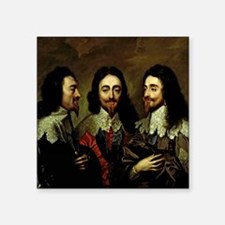 "Charles I Square Sticker 3"" x 3"""
