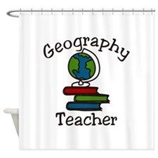 Geography Teacher Shower Curtain