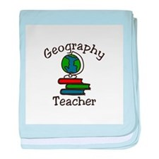 Geography Teacher baby blanket