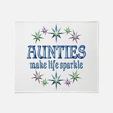 Aunties Sparkle Throw Blanket