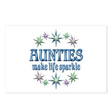 Aunties Sparkle Postcards (Package of 8)