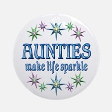 Aunties Sparkle Ornament (Round)