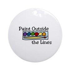 paint outside the lines Ornament (Round)