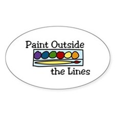 paint outside the lines Decal