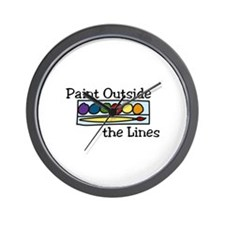 paint outside the lines Wall Clock